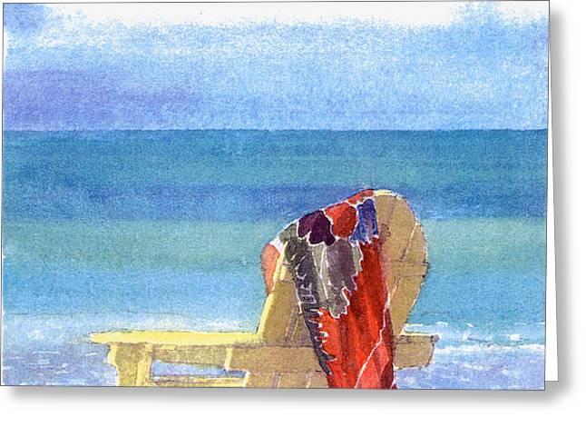 Beach Chair Greeting Card by Shawn McLoughlin