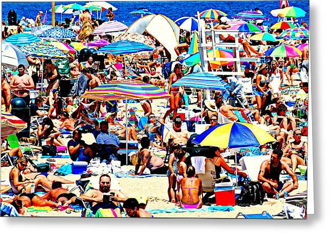 York Beach Greeting Cards - Beach Chaos Greeting Card by Diana Angstadt