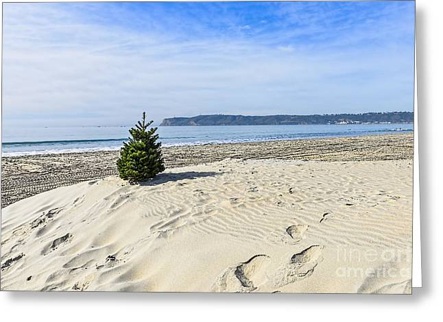 California Ocean Photography Greeting Cards - Beach Christmas Greeting Card by Keith Ducker