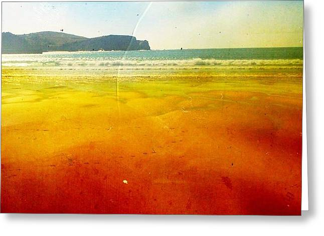 Beach Greeting Card by Contemporary Art
