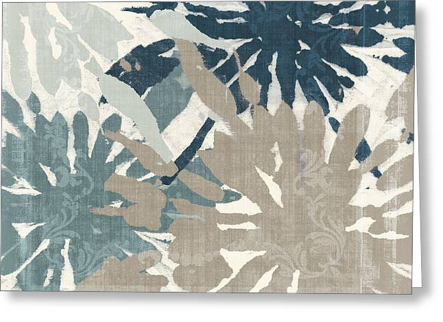 American Primitive Art Greeting Cards - Beach Curry IV Ikat Greeting Card by Mindy Sommers
