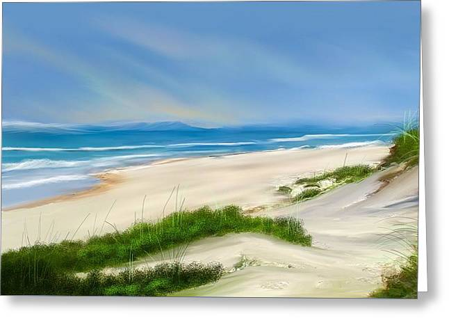 Beach Day Greeting Card by Anthony Fishburne