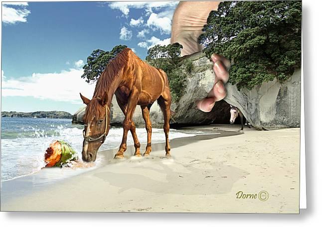 Sea Animals Greeting Cards - Beach Day Greeting Card by Dorne Ann