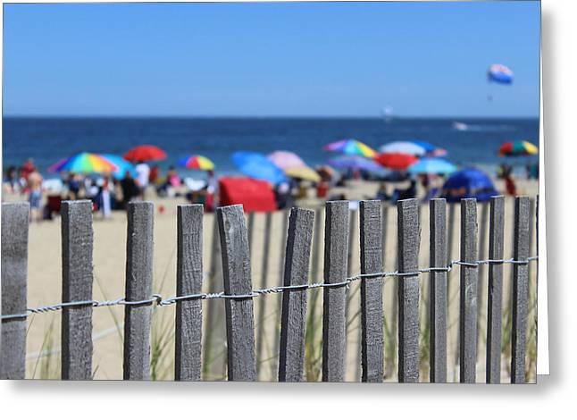 Surf City Greeting Cards - Beach Day Greeting Card by Joscelyn Paine