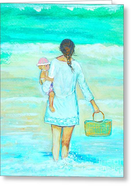 Daughter Gift Greeting Cards - Beach Day Picnic Greeting Card by Leslie Allen