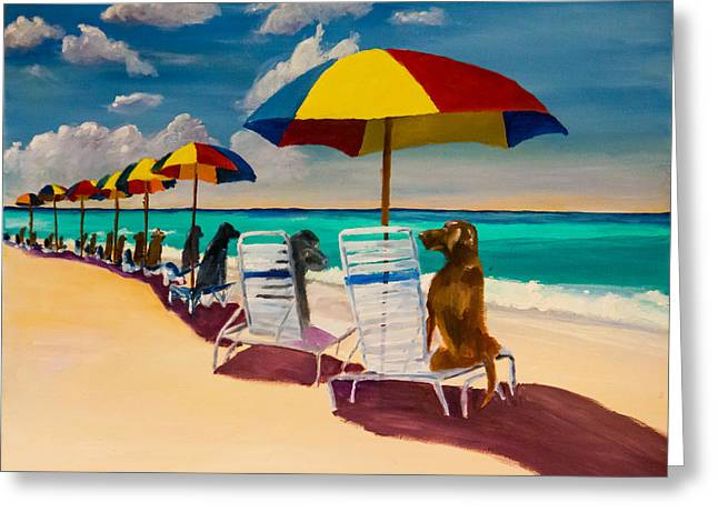 Beach Day Greeting Card by Roger Wedegis