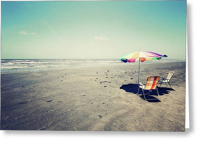 Beach Day Greeting Card by Trish Mistric