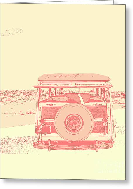 Surfer Art Greeting Cards - Beach Days Greeting Card by Emily Enz