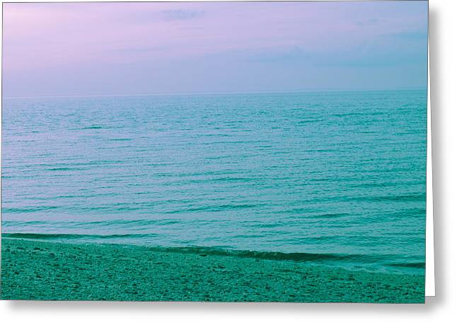 Beach Photography Greeting Cards - Beach Dreams 3 Cool Violet Greeting Card by Lauryn Vacey