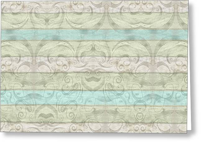 Beach Driftwood Wood Swirl Striped Pattern Greeting Card by Audrey Jeanne Roberts
