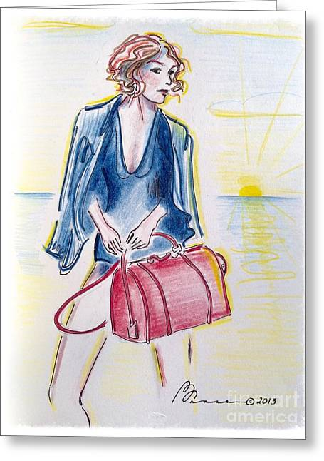 Swimsuit Photo Greeting Cards - Beach Exec Greeting Card by Barbara Chase