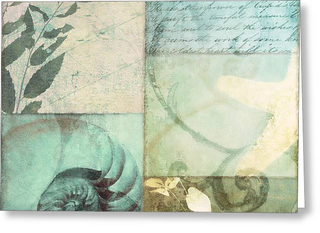 Sea Plants Greeting Cards - Beach Expressions Greeting Card by Mindy Sommers