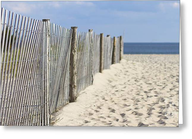 Sand Fences Greeting Cards - Beach Fence on the Sand Greeting Card by ELITE IMAGE photography By Chad McDermott