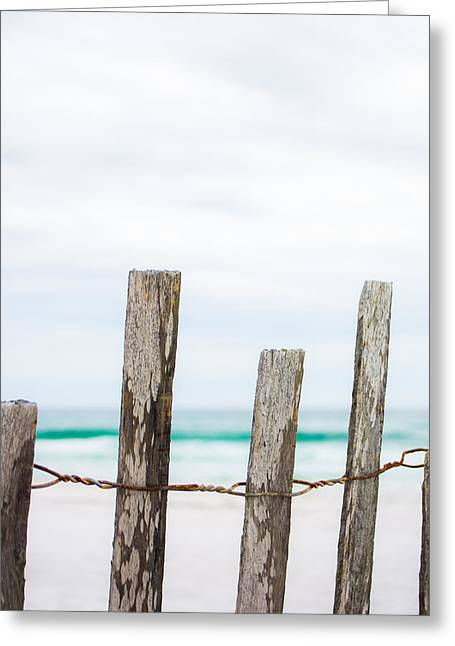 Florida House Greeting Cards - Beach Fence Greeting Card by Shelby  Young