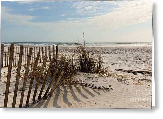Michelle Photographs Greeting Cards - Beach Fence St Augustine Florida Greeting Card by Michelle Wiarda