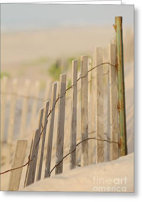 Beach Fences Greeting Card by A New Focus Photography