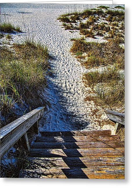 Boca Grande Greeting Cards - Beach Footprints - Boca Grande Florida Greeting Card by Jon Berghoff