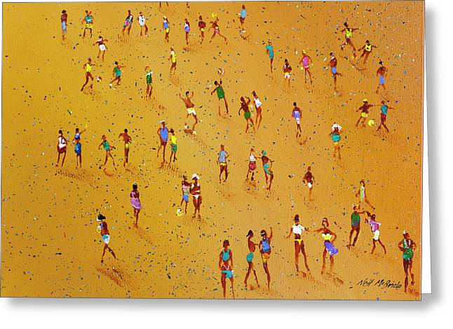 Beach Games Greeting Card by Neil McBride
