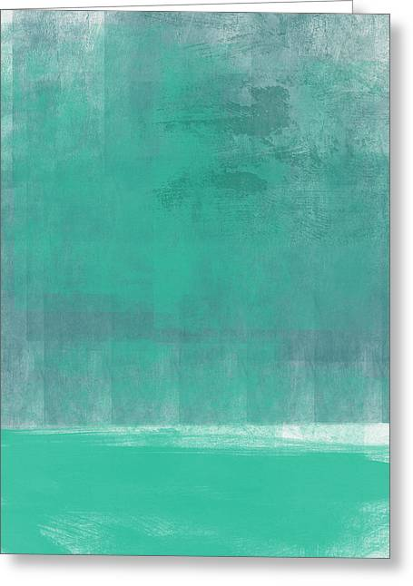 Beach Glass- Abstract Art Greeting Card by Linda Woods
