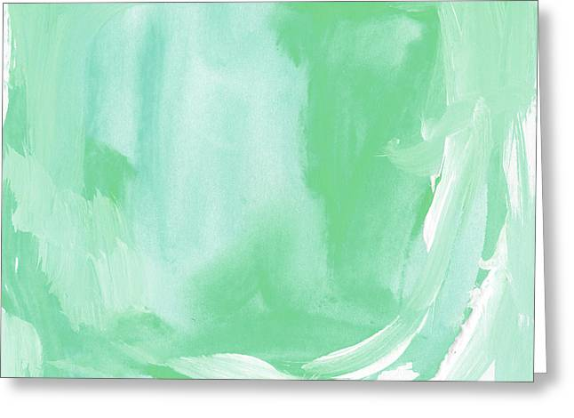 Beach Glass Blues Abstract- Art By Linda Woods Greeting Card by Linda Woods
