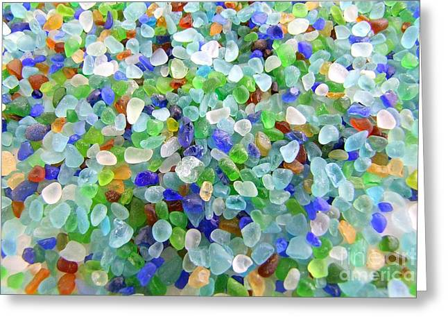 Mary Deal Greeting Cards - Beach Glass Greeting Card by Mary Deal