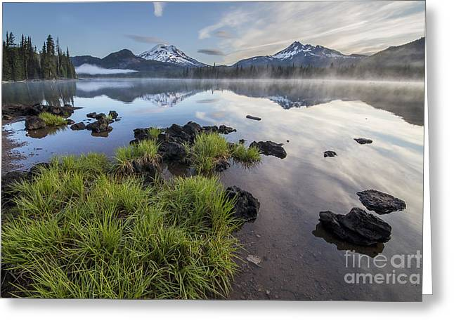 Oregon Photos Greeting Cards - Beach Grass on Sparks Lake Greeting Card by Twenty Two North Photography