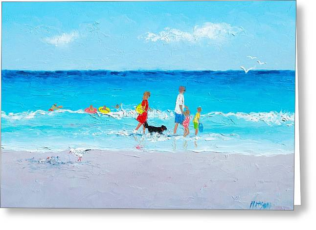 Beach Holiday Greeting Card by Jan Matson