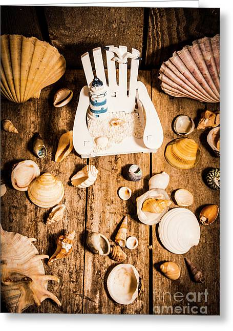Beach House Artwork Greeting Card by Jorgo Photography - Wall Art Gallery