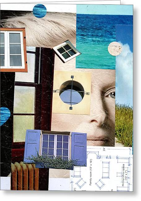 The Houses Mixed Media Greeting Cards - Beach House Dreams Greeting Card by P J Lewis