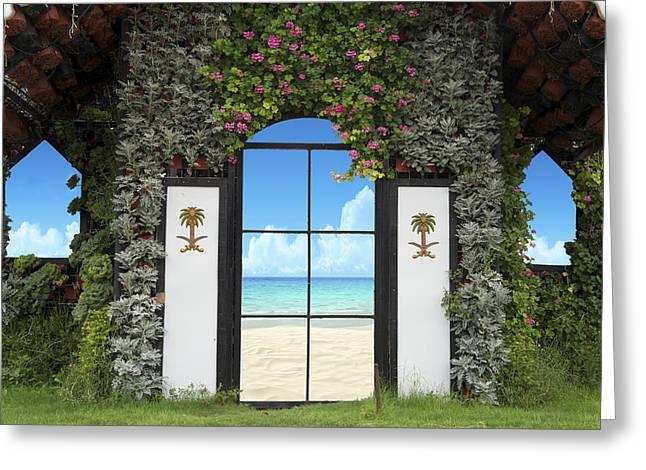 Beach House Greeting Card by Art Spectrum