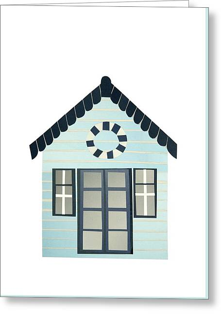 French Doors Greeting Cards - Beach Hut Greeting Card by Isobel Barber