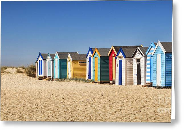 Beach Hut Greeting Cards - Beach Huts Greeting Card by Colin and Linda McKie
