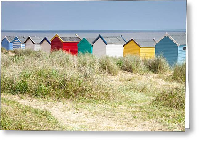 Beach Huts Greeting Card by Ian Merton