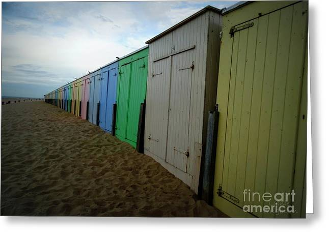 Beach Huts Greeting Card by Lainie Wrightson