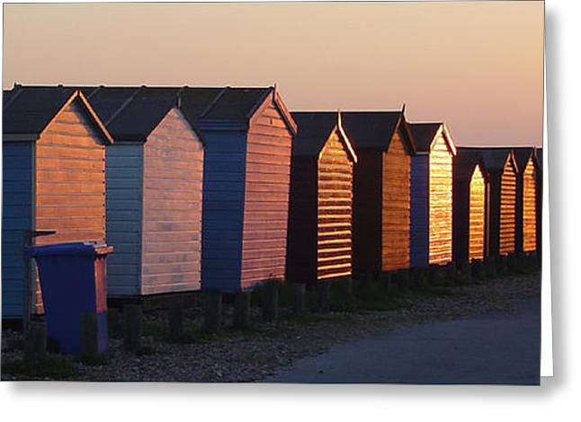 Beach Photography Greeting Cards - Beach Huts Greeting Card by Martin Piercy