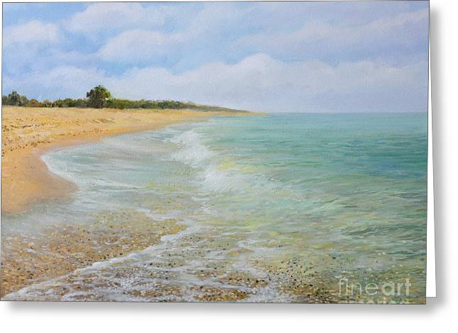 Peaceful Scenery Greeting Cards - Beach Krapets Greeting Card by Kiril Stanchev