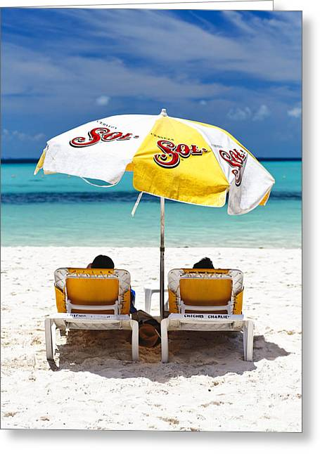 Isla Mujeres Greeting Cards - Beach Life Greeting Card by George Oze