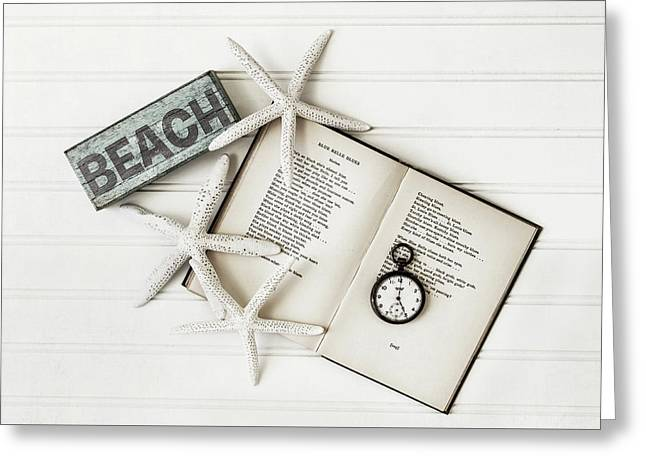 Beach Love Greeting Card by Kim Hojnacki