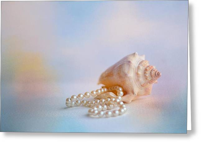 Shell Texture Greeting Cards - Beach Memories Greeting Card by Jai Johnson