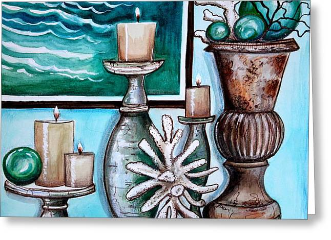 Beach Nautical Decor Greeting Card by Elizabeth Robinette Tyndall