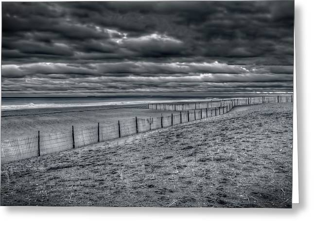 York Beach Greeting Cards - Beach Of No Return Greeting Card by Mike  Deutsch