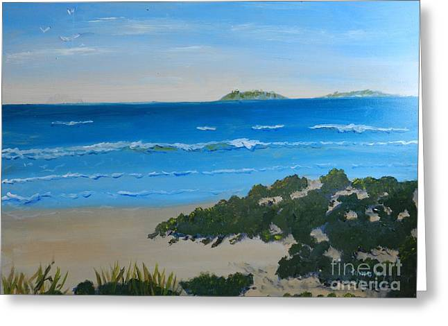 Pamela Meredith Greeting Cards - Beach on the North Coast of NSW  Greeting Card by Pamela  Meredith