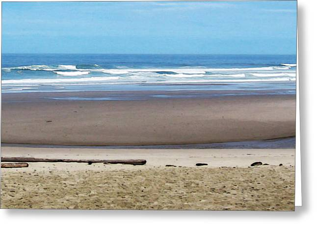 Beach on the Oregon Coast Greeting Card by Marion McCristall