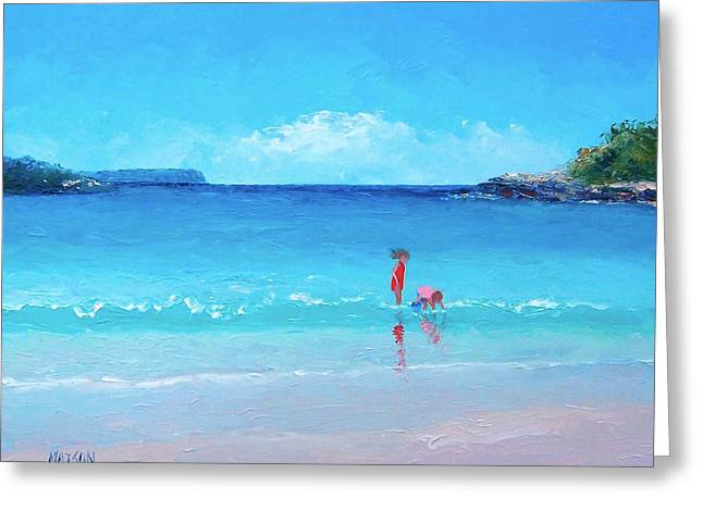 Beach Painting - A Sea Breeze Greeting Card by Jan Matson