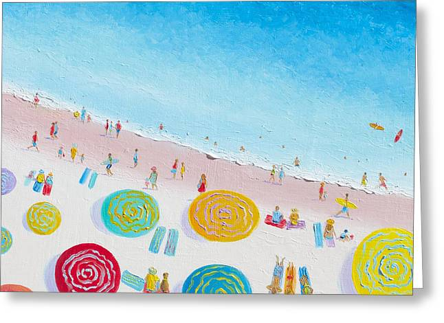 Beach Cottage Style Greeting Cards - Beach Painting - Beach Bliss Greeting Card by Jan Matson