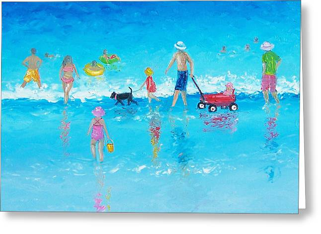 Summer Scene Greeting Cards - Beach Painting Beach Holiday  Greeting Card by Jan Matson