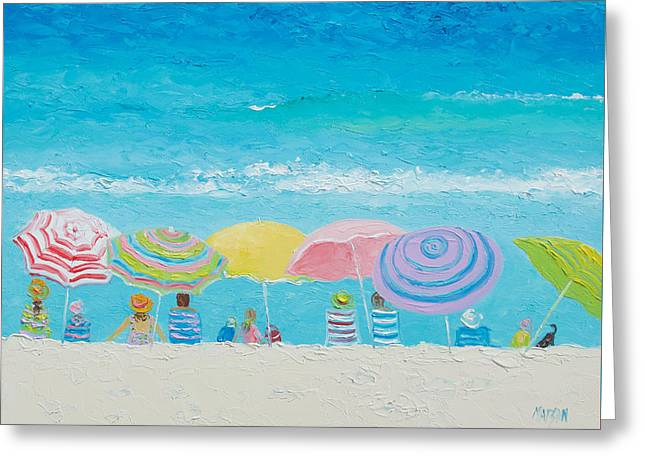 Beach Cottage Style Greeting Cards - Beach Painting - Color of Summer Greeting Card by Jan Matson