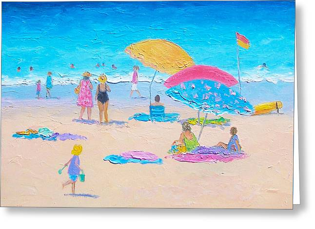 Beach Painting - Colors Of Summer  Greeting Card by Jan Matson