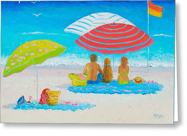 Beach Cottage Style Greeting Cards - Beach Painting - Endless Summer Days Greeting Card by Jan Matson