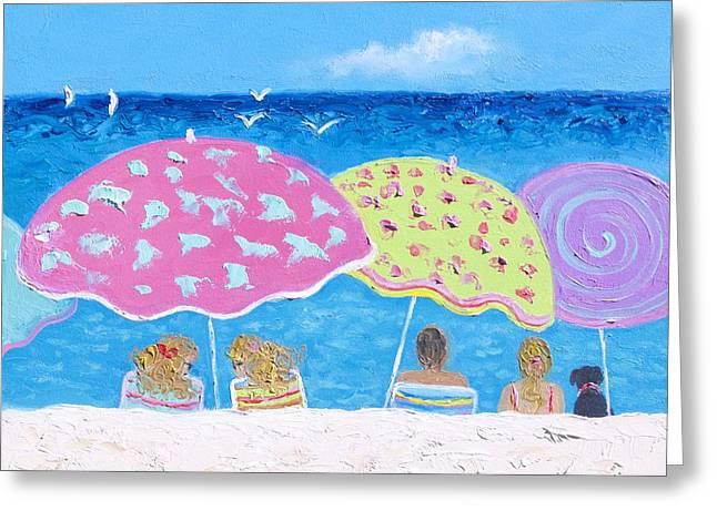 Ocean Art. Beach Decor Greeting Cards - Beach Painting - Lazy Summer Days Greeting Card by Jan Matson